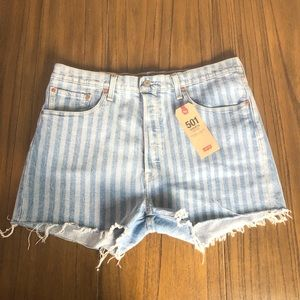 Levi's 501 high rise button fly cutoff shorts